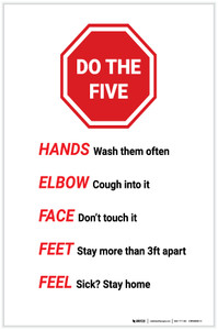 Do The Five Stop Sign Graphic - Label