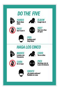 Do the Five Spanish Bilingual Portrait - Label