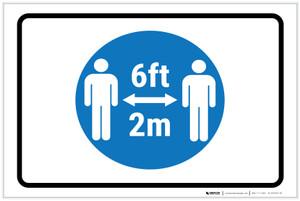 6Ft-2M With Icon Landscape - Label