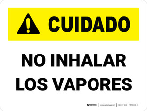 Caution: Do Not Breathe In Fumes Spanish - Wall Sign