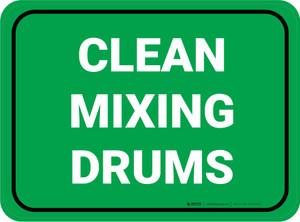 Clean Mixing Drums Green Rectangular - Floor Sign