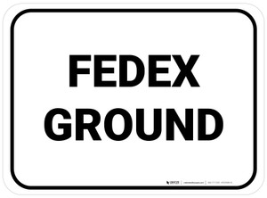 Fedex Ground Rectangle White Rectangle - Floor Sign