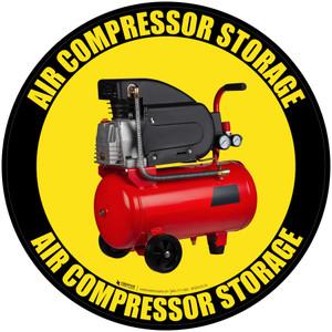 Air Compressor Storage - Floor Sign