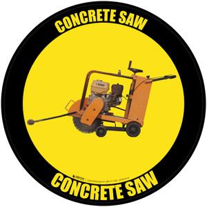 Concrete Saw - Floor Sign