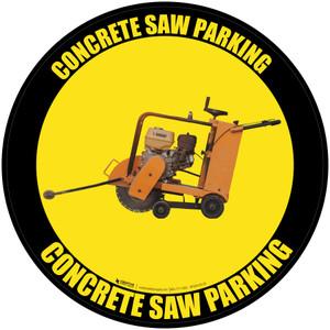 Concrete Saw Parking - Floor Sign