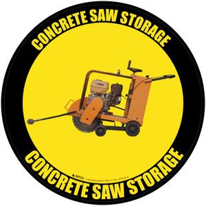 Concrete Saw Storage - Floor Sign