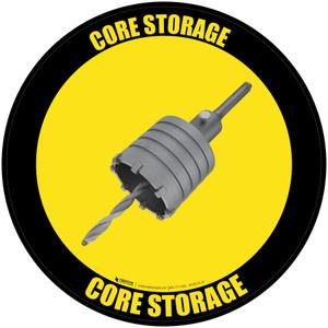 Core Storage - Floor Sign