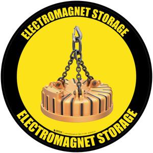 Electromagnet Storage - Floor Sign