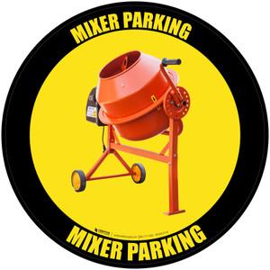 Mixer Parking - Floor Sign