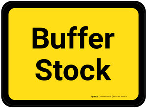 Buffer Stock - Yellow Rectangle - Floor Sign