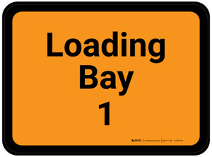 Loading Bay 1 - Orange Rectangle - Floor Sign