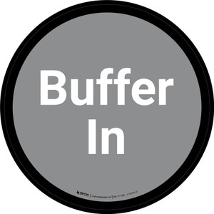 Buffer In - Gray Circle - Floor sign