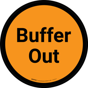 Buffer Out - Orange Circle - Floor sign