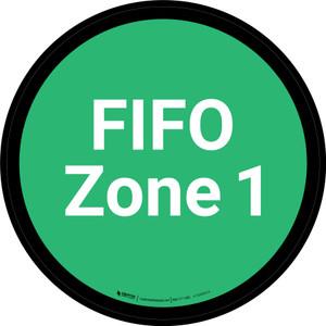 FIFO Zone 1 - Green Circle - Floor sign