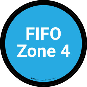 FIFO Zone 4 - Blue Circle - Floor sign