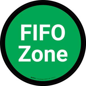 FIFO Zone - Green Circle - Floor sign