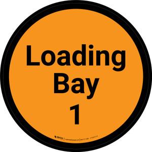 Loading Bay 1 - Orange Circle - Floor sign