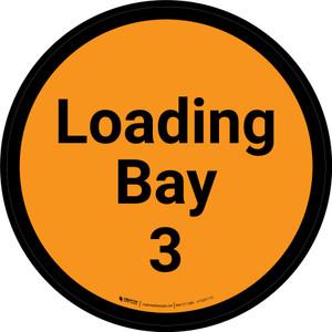 Loading Bay 3 - Orange Circle - Floor sign