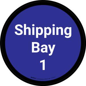 Shipping Bay 1 - Blue Circle - Floor sign