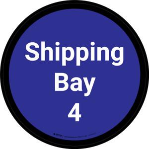 Shipping Bay 4 - Blue Circle - Floor sign