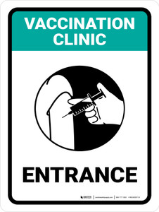 Cavvination Clinic: Entrance Green Portrait - Wall Sign