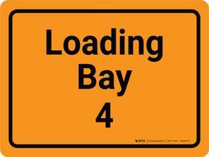 Loading Bay 4 Orange Landscape - Wall Sign