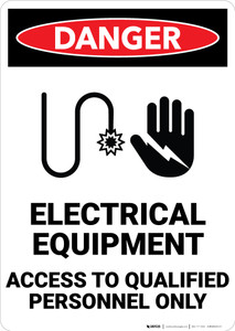 Danger: Electrical Equipment High Voltage - Wall Sign