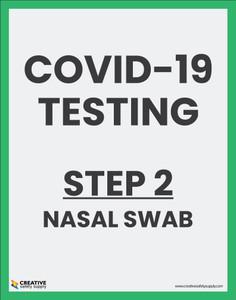 Covid-19 Testing Step 2 Nasal Swab - Poster