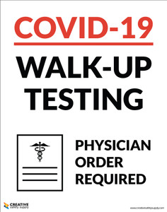 Covid-19 Walk-up Testing - Bring Your ID & Phone for Verification  - Poster