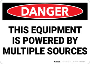 Danger: Electrical Powered Multiple Sources - Wall Sign