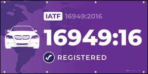 IATF ( International Automotive Task Force) 16949:2016 - Banner