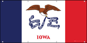Iowa State Flag - Banner