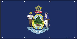 Maine State Flag - Banner