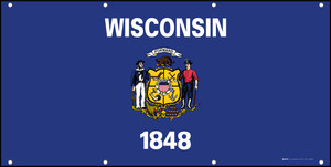 Wisconsin State Flag - Banner