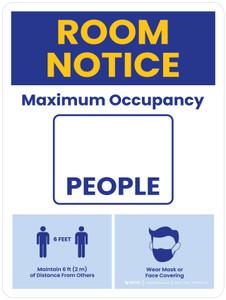 Room Notice: Maximum Occupancy Portrait - Wall Sign