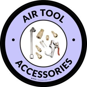 Air Tool Accessories Gray Circular - Floor Sign