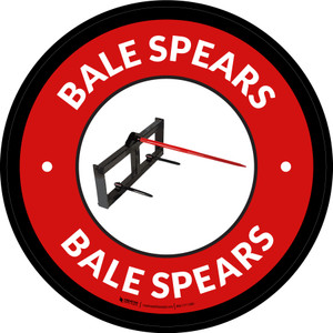 Bale Spears Red Circular - Floor Sign