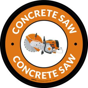 Concrete Saw Orange Circular - Floor Sign