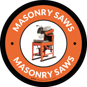 Masonry Saws Orange Circular - Floor Sign