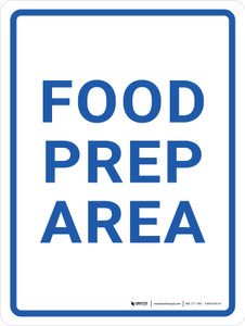Food Prep Area Portrait - Wall Sign
