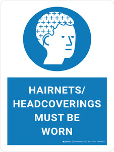 Hairnets/Headcoverings Must Be Worn with Icon Portrait - Wall Sign