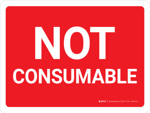 Not Consumable Red Background Landscape - Wall Sign