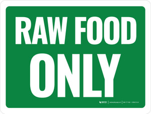 Raw Food Only Green Landscape - Wall Sign
