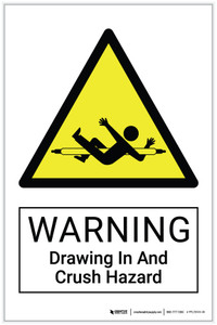 Warning: Drawing In And Crush Hazard - Label