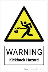 Warning: Kickback Hazard - Label