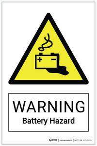 Warning: Battery Hazard - Label