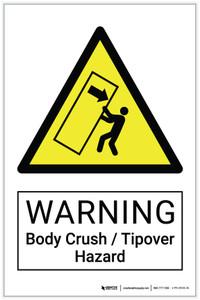 Warning: Body Crush / Tipover Hazard - Label
