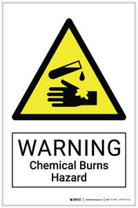 Warning: Chemical Burns Hazard - Label