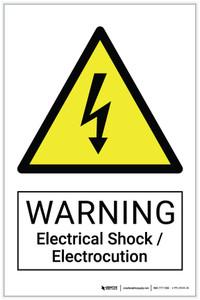 Warning: Electrical Shock / Electrocution Hazard - Label
