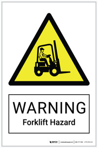 Warning: Forklift Hazard - Label